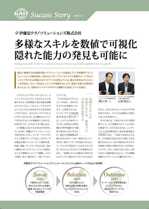 GAIT導入事例: 伊藤忠テクノソリューションズ株式会社