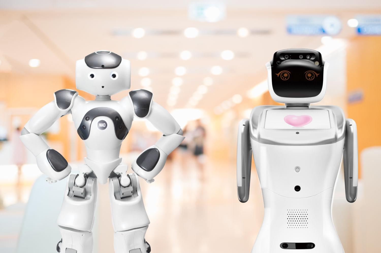 ヒューマノイドロボットによる医院・クリニック向け予診・啓発・受付の支援