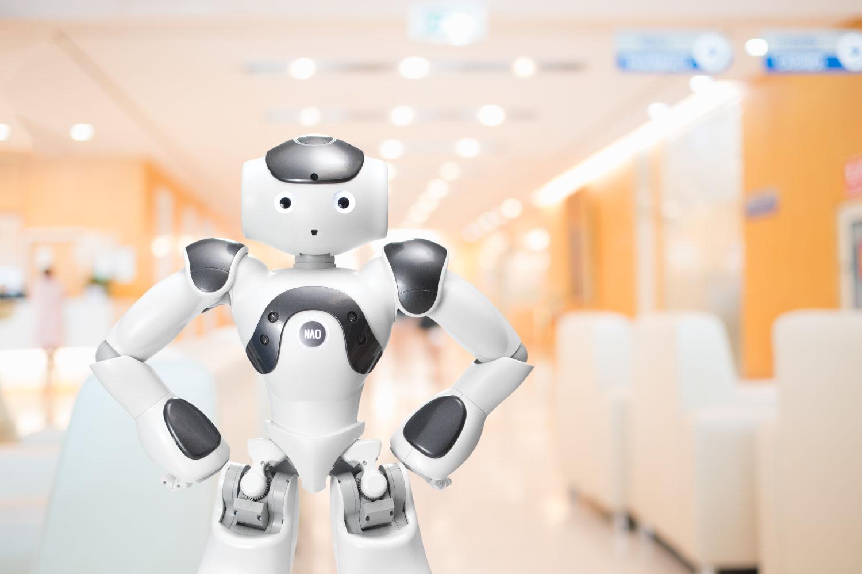 ロボットによる病院の予診・啓発・受付支援